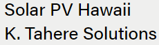 Solar PV Hawaii K. Tahere Solutions