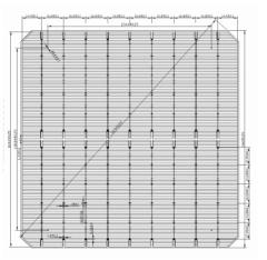 MS-9BB166 Mono Perc Solar Cell (half cut)