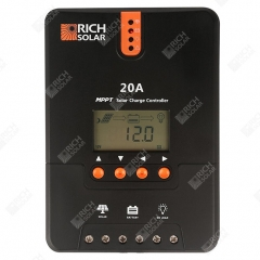 RICH SOLAR 20 Amp MPPT Solar Charge Controller Negative Ground