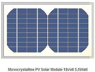 18V 5.5W monocrystalline pv module