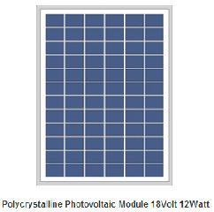 18V 12W polycrystalline solar panel