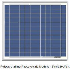 29W solar panel 12V