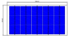 6w 15v solar panel framless 6