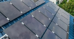 Thin film a-Si solar for rooftop, black (S1AS110)