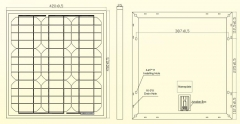 drawing/design of 25W solar panel 25