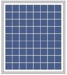 18W 18V 1A solar panel 18