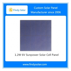 1.2W 6V Sunpower Solar Cell Panel