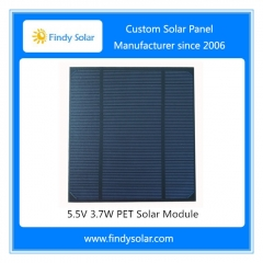 Photovoltaic Solar Panel 5.5V 3.7W
