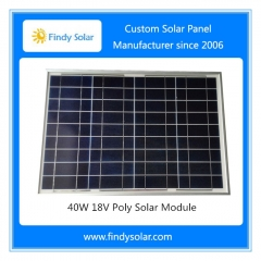 Solar Panel 40W 18V Poly for Solar Fence Energizer