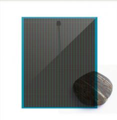 TRANSPARENT  2 LAYERS SOLAR GLASS BLUE