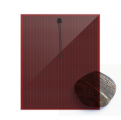 TRANSPARENT  3 LAYERS SOLAR GLASS RED