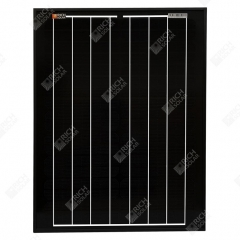 RICH SOLAR 20 Watt 12 Volt Monocrystalline All Black Solar Panel