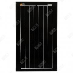 RICH SOLAR 30 Watt 12 Volt Monocrystalline All Black Solar Panel