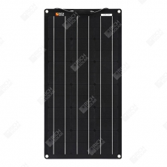 RICH SOLAR 50 Watt 12 Volt ETFE Flexible Monocrystalline Solar Panel All Black