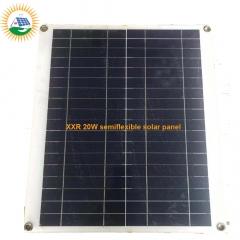 20W PET laminate semiflexible solar panel