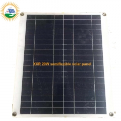 solar panel manufacturer hotselling 20W poly semiflexible solar panel