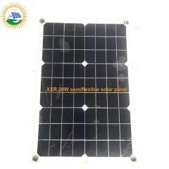 hotselling 20W PET laminate semi flexible solar panel