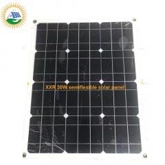solar panel factory supplying 30W semiflexible solar panel