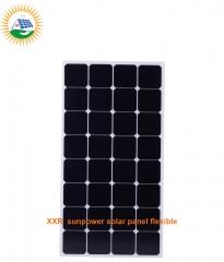 130W 36 cells sunpower solar panel flexible