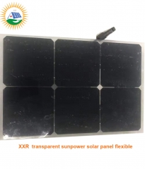 20w 6 cells sunpower solar panel flexible