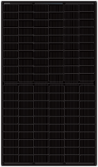 MONO PERC 350W-360W 120HALF-CELLS ALL BLACK(166mm)