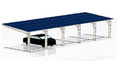 Solar Carport - Single Row (Cantilever-up)