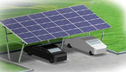 Solar Carport - Single Rows (Incline pole)