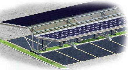 Solar Carport - Double Rows (Parallel Style)