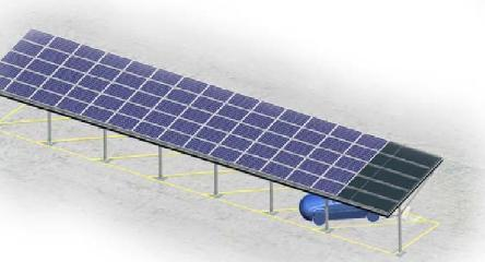 Solar Carport - Single Rows (side)