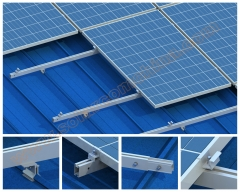 Corrugated metal sheet roof system