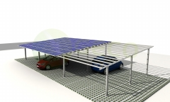Galvanized Steel Solar Carport