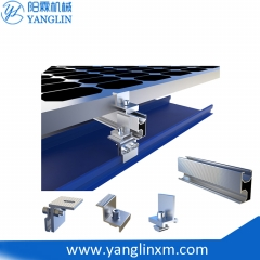 Roof Top Metal Roof Ballasted Solar Mounting