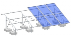 Flat roof-aluminum ballasted roof mounting system