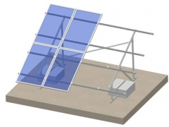 Flat roof-C type steel ballasted roof mounting system