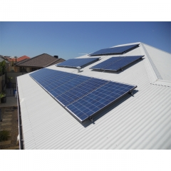 Solar tin roof mounting structure
