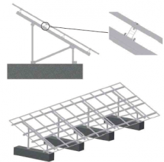 Dual-Post Ground Solar Mounting System