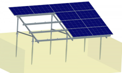 Ground mount solar racking system