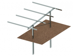 CS-Rammed Piling Ground Mounting System