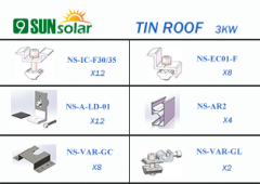 3KW Tin Roof Mounting System