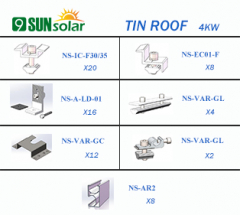 4KW Tin Roof Mounting System