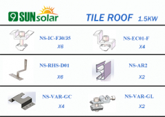 1.5KW Tile Roof Mounting System