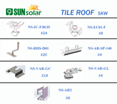 5KW Tile Roof Mounting System