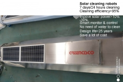 Solar panel-cleaning robot