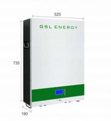 GSL ENERGY 48V 100Ah 200Ah 400Ah Wall Battery Pack